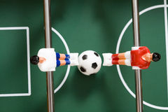 Le football de table Photo stock