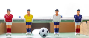 Le football de table de Foosball teame de sport de joueurs de football Images libres de droits