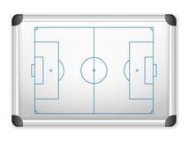Le football de tableau blanc Image libre de droits