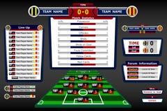 Le football de tableau indicateur Photo libre de droits
