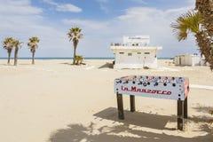 Le football de Tableau sur la plage Photo libre de droits
