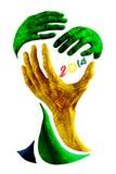 Le football de trophée du monde Image libre de droits