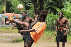 Le football des Caraïbes Images libres de droits