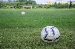 Le football des champs Images stock