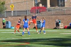 Le football des femmes de la division III de NCAA d'université Image stock