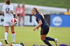2015 le football des femmes de NCAA - le WVU-Maryland Photo stock