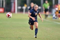2015 le football des femmes de NCAA - le WVU-Maryland Image stock