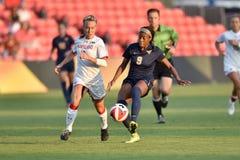2015 le football des femmes de NCAA - le WVU-Maryland Photos libres de droits