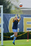 2015 le football des femmes de NCAA - Villanova @ WVU Photos libres de droits