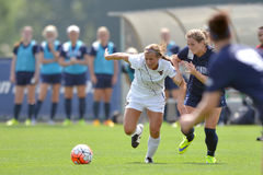 2015 le football des femmes de NCAA - Villanova @ WVU Photo libre de droits