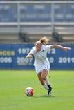 2015 le football des femmes de NCAA - Villanova @ WVU Photographie stock libre de droits