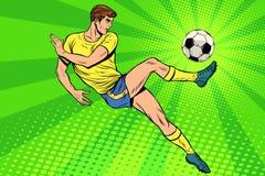 Le football a des jeux de sports d'un été de ballon de football Photographie stock