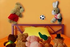 Le football doux du football de jouets photos stock