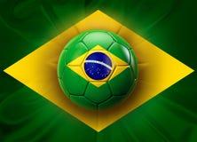 Le football du Brésil Photographie stock libre de droits