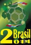 Le football 2014 du Brésil de gagnant de tasse Photo libre de droits