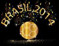 Le football 2014 du Brésil de gagnant de tasse Photographie stock