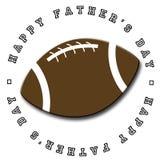 Le football du jour de père Images libres de droits