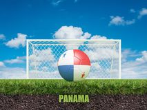 Le football du Panama sur le football ou le terrain de football Image stock