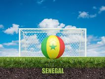 Le football du Sénégal sur le football ou le terrain de football Photos libres de droits