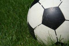 Le football en plastique Photo stock