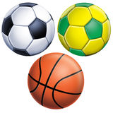 Le football et basket-ball Photographie stock