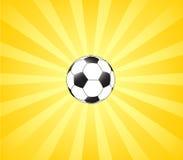 Le football et le soleil illustration stock
