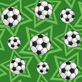 Le football et modèle sans couture d'étoiles illustration stock