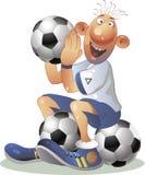 Le football et tous Photo libre de droits