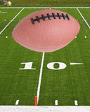 Le football et zone image stock