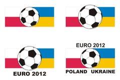 Le football - euro vecteur 2012 de la Pologne Ukraine Photographie stock