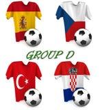 Le football européen 2016 du groupe D images libres de droits