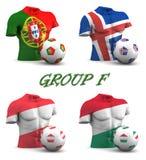 Le football européen 2016 du groupe F Image stock