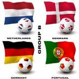 Le football européen - groupe B Image libre de droits