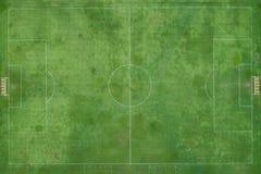 Le football extérieur ou stade futsal Fait par et herbe verte Photos stock