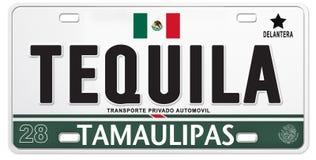 Le football fier mexicain du football du Mexique de plaque minéralogique de tequila illustration de vecteur