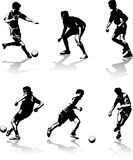 Le football figure des chiffres Photos stock