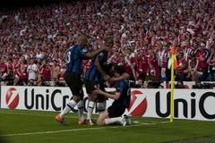 Le football : Finale 2010 de ligue de champions Photographie stock libre de droits