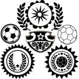 Le football folâtre l'illustration de vecteur de crêtes Photos stock