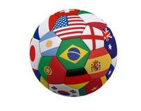 Le football/football du monde Image stock