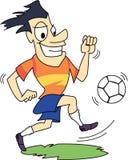 Le football/footballeur avec l'expression heureuse Images stock