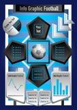 Le football graphique et argent d'affaires d'infos Illustration Stock