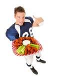 Le football : Indication le plat des ailes Images stock