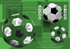 Le football infographic Photo stock