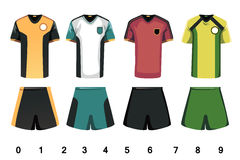 Le football Jersey Images stock
