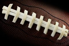 Le football lacé vers le haut Image libre de droits