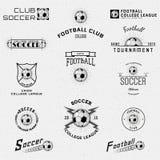 Le football, le football badges des logos et des labels pour Photographie stock libre de droits