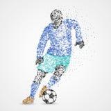 Le football, le football, sport, athlète illustration stock