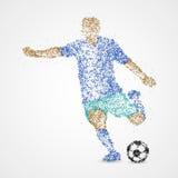 Le football, le football, sport, athlète illustration de vecteur