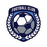 Le football, logo de club du football Images libres de droits