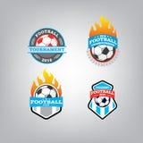 Le football Logo Design Template, identité d'équipe d'insigne du football Images libres de droits